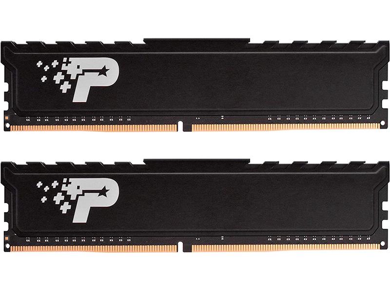 Модуль памяти Patriot Memory Signature SL Premium DDR4 DIMM 2400Mhz PC19200 - 8Gb Kit (2x4Gb) PSP48G2400KH1