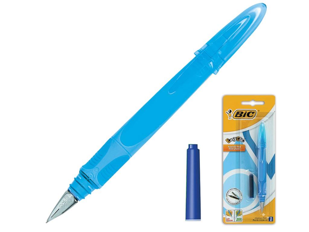Ручка перьевая Bic EasyClic корпус Light Blue, стержень Blue 8479004