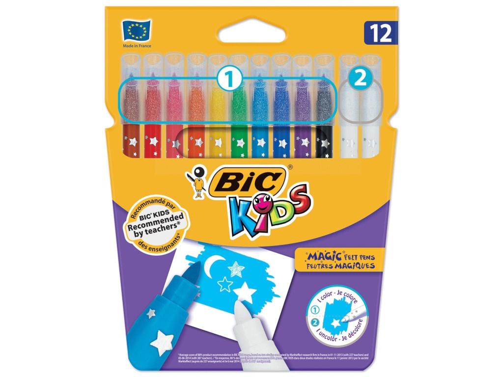 Фломастеры Bic Пиши и стирай 10 цветов + 2 стирающих 9202962