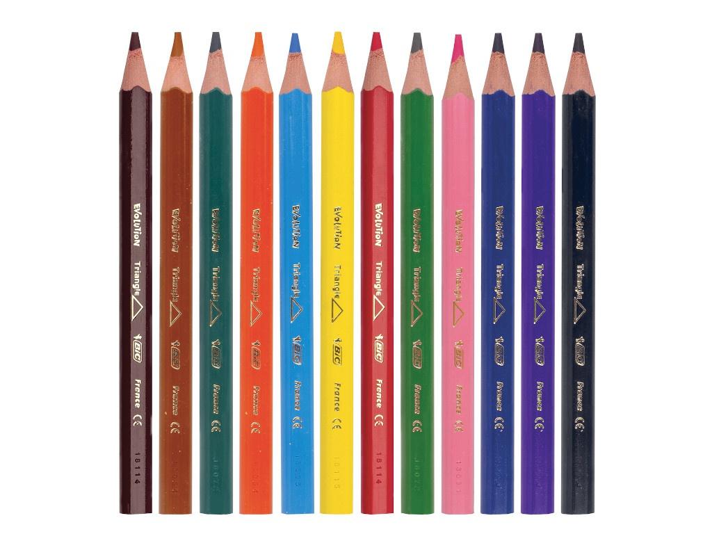 Карандаши цветные Bic Triangle 12 цветов 8297356