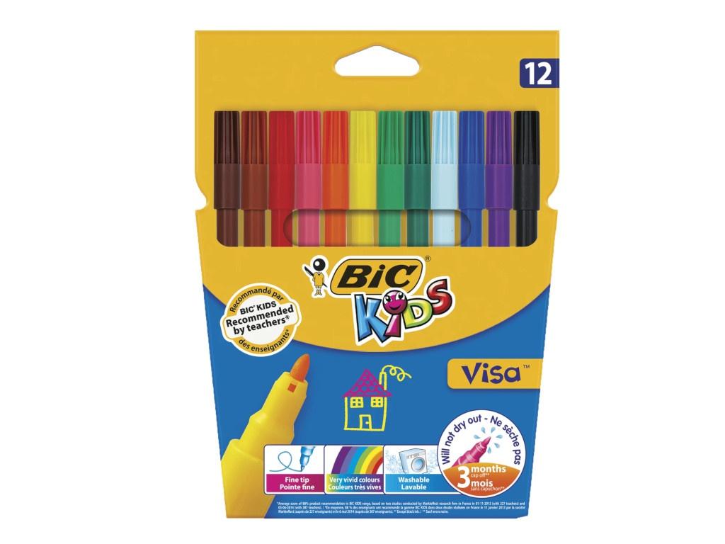 Фломастеры Bic Visa 12 цветов 888695