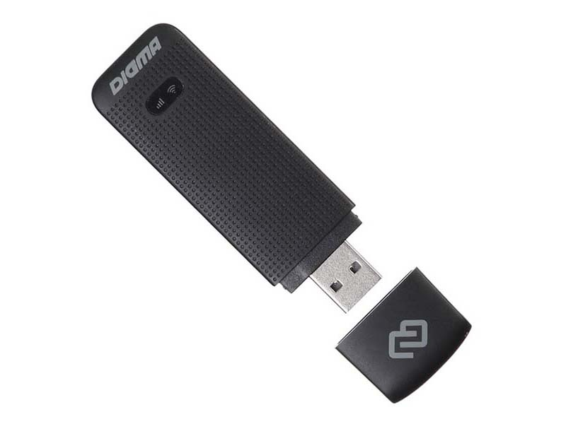 Модем Digma Dongle 3G/4G Black DW1961