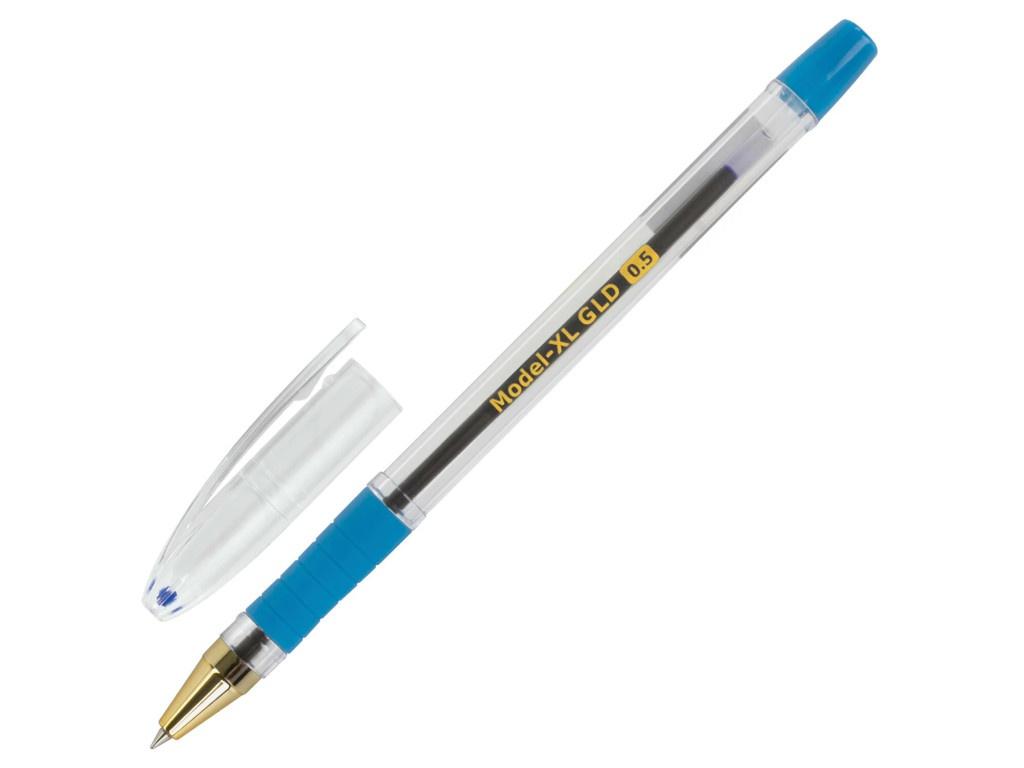 Ручка шариковая Brauberg Model-XL GLD 0.5 mm корпус Transparent, стержень Blue 143245