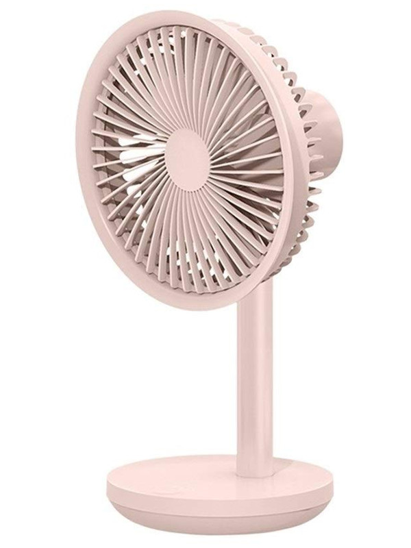 Вентилятор от USB Xiaomi Mi Solove F5 Table-Top Rotary Fan 4000mAh 3 Speed Type-C Pink
