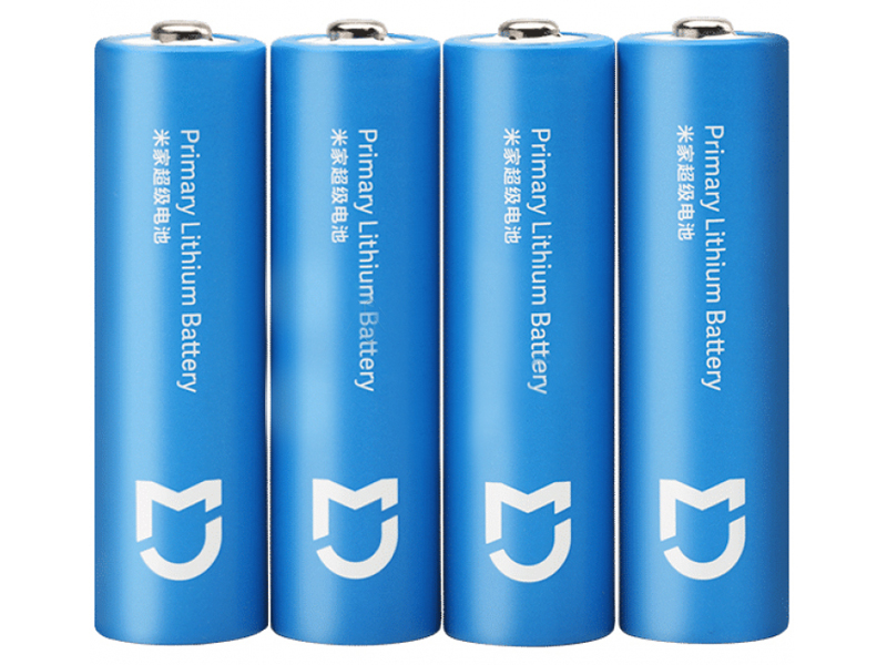 Батарейка AA - Xiaomi Mijia Super Lithium Battery Light Blue (4 штуки)