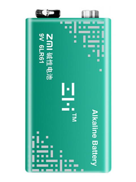 Батарейка КРОНА - Xiaomi ZMI Alkaline 6LR61 9V Green (1 штука)