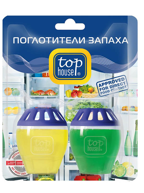 Поглотители запаха для холодильника Top House Лимон - лайм 393200