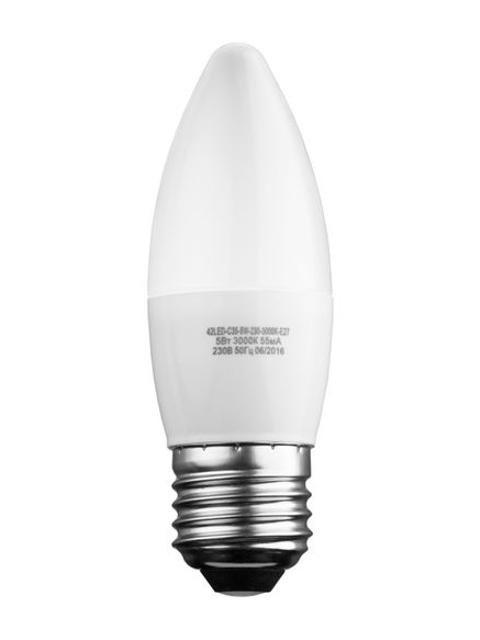 Лампочка Sweko E27 C35 5W 230V 3000K 42LED-C35-5W-230-3000K-E27