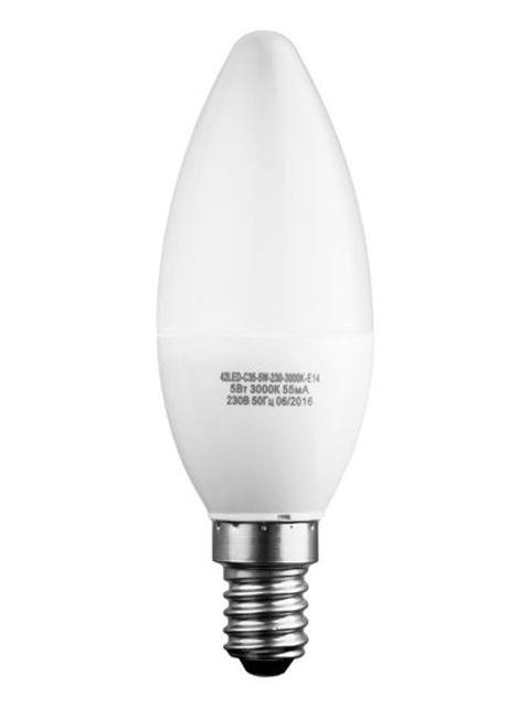 Лампочка Sweko E14 C35 5W 230V 4000K 42LED-C35-5W-230-4000K-E14