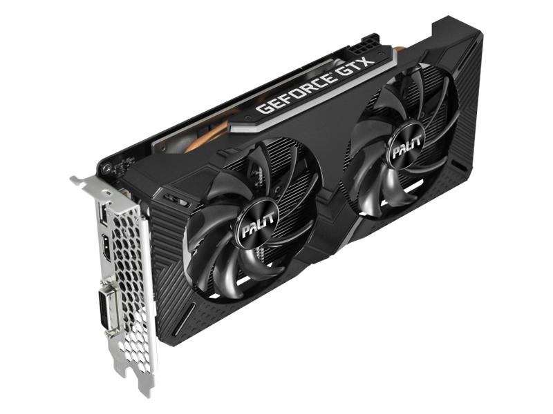 Видеокарта Palit GeForce GTX 1660 Dual OC 1530Mhz PCI-E 3.0 6144Mb 8000Mhz 192 bit DVI HDMI DP NE51660S18J9-1161A Выгодный набор + серт. 200Р!!!