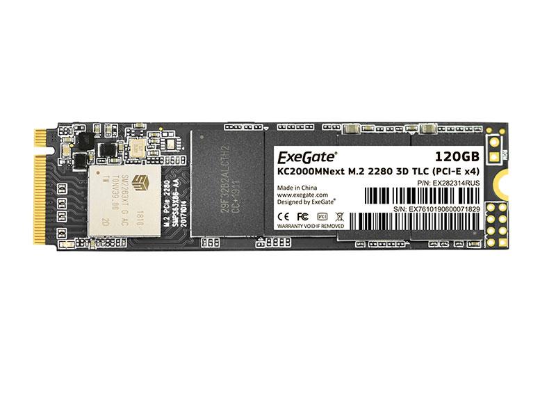 Твердотельный накопитель ExeGate SSD KC2000MNext 120Gb EX282314RUS