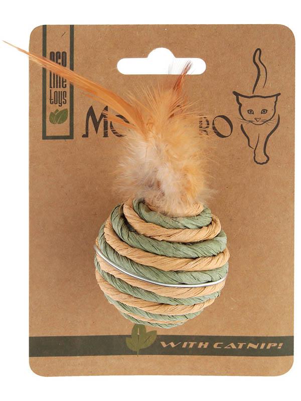 Игрушка для кошек Mon Tero Эко Бочонок с хвостиком 60302