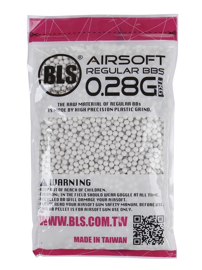 Шарики пластиковые BLS 0.28g 6mm (1kg) White