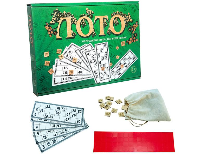 Настольная игра Strateg Лото с деревянными фишками 30661