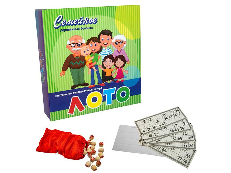 Настольная игра Strateg Лото семейное 344 математическое лото