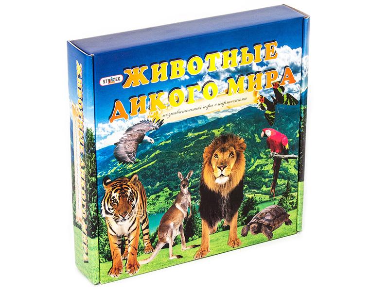 Настольная игра Strateg Животные дикого мира 686