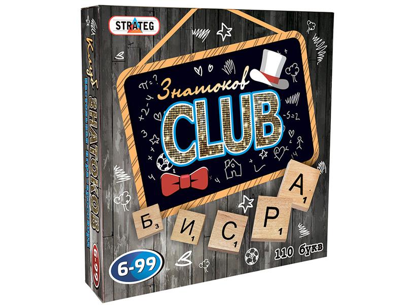 Настольная игра Strateg Знатоки Club 703