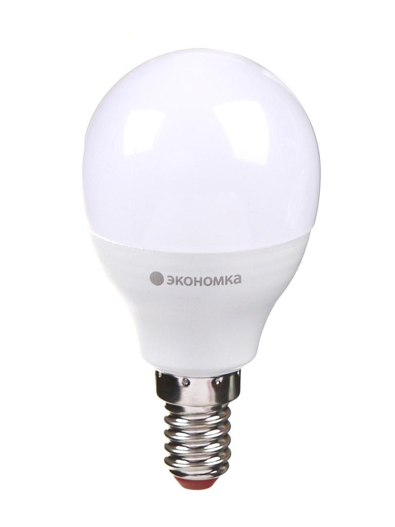 Лампочка Экономка Шарик GL45 E14 11W 230V 3000K 935Lm EcoLED11wGL45E1430