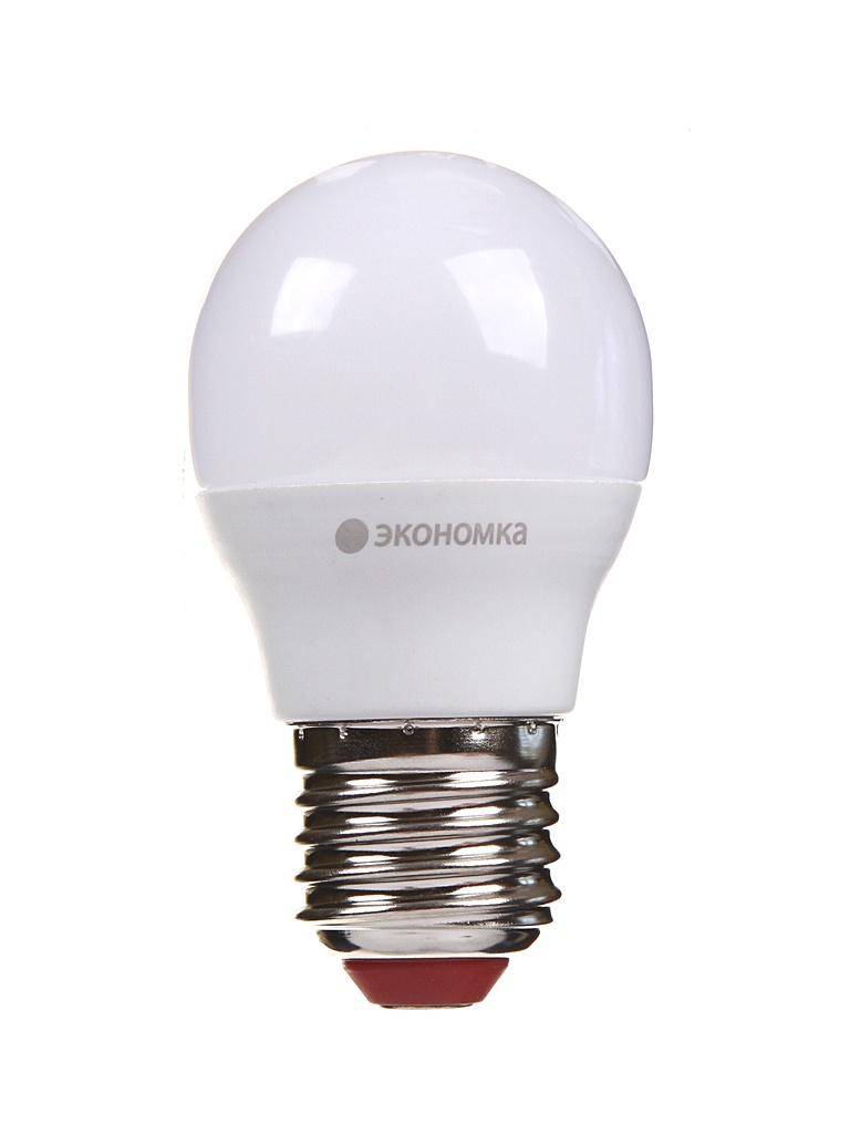 Лампочка Экономка Шарик GL45 E27 6W 230V 3000K 510Lm EcoLED6wGL45E2730