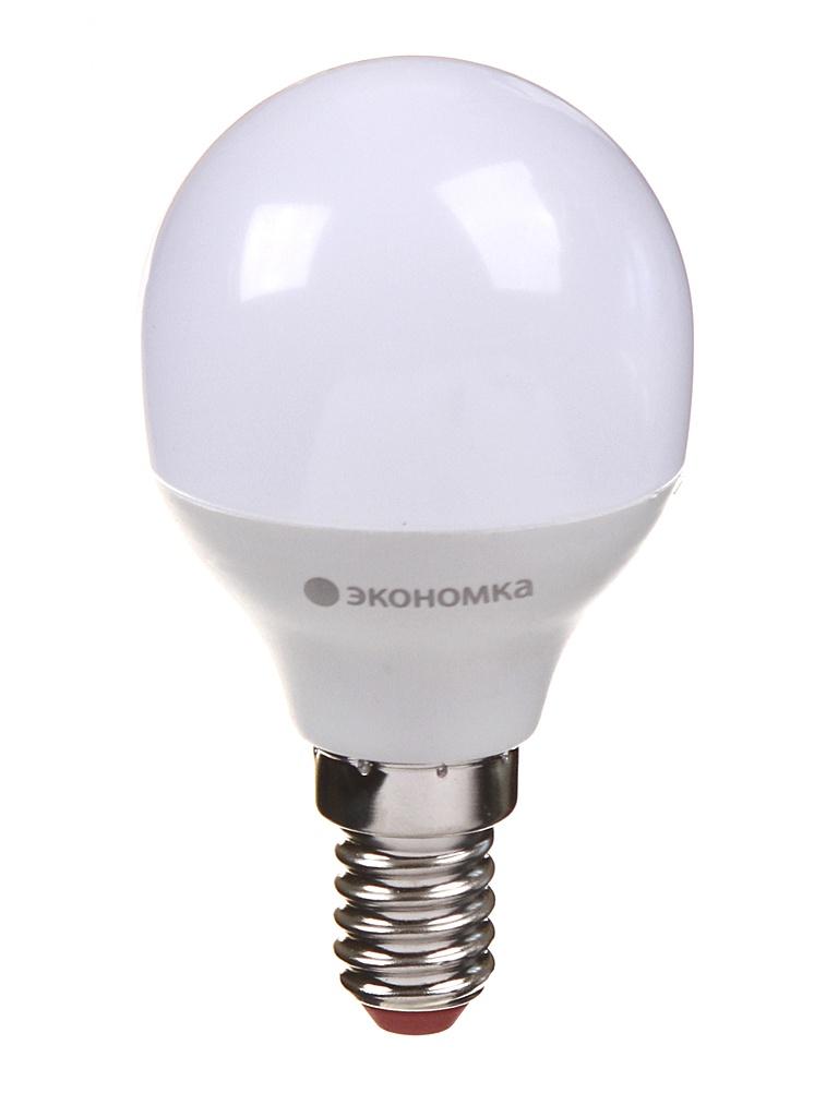 Лампочка Экономка Шарик GL45 E14 6W 230V 4500K 510Lm EcoLED6wGL45E1445