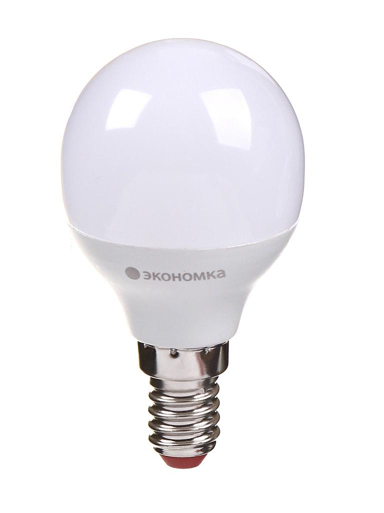 Лампочка Экономка Шарик GL45 E14 6W 230V 3000K 510Lm EcoLED6wGL45E1430