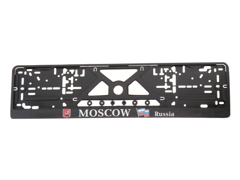Рамка номерного знака Mashinokom Moscow Black RG019