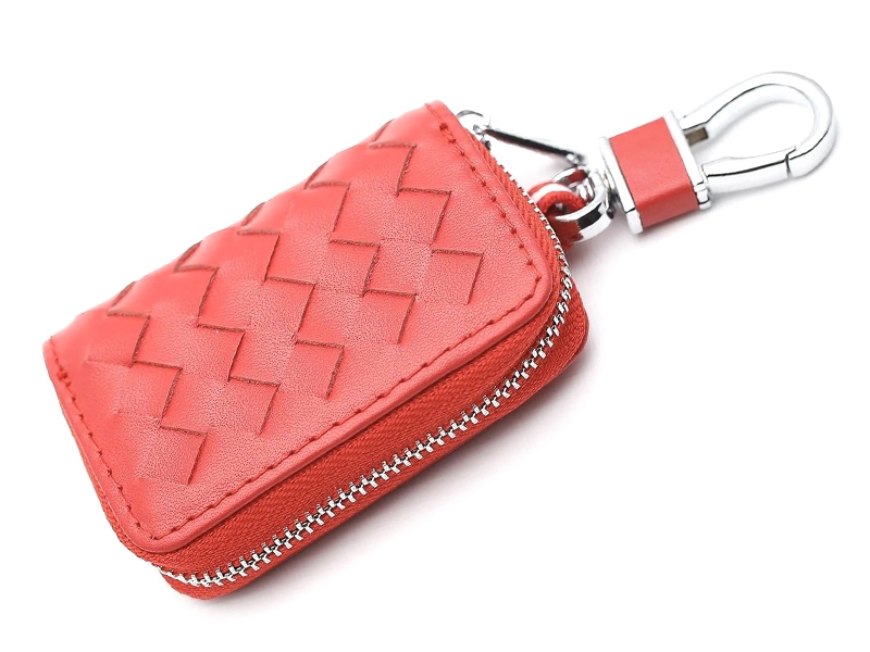 Ключница Mashinokom Плетенка Leather Red AKP 003