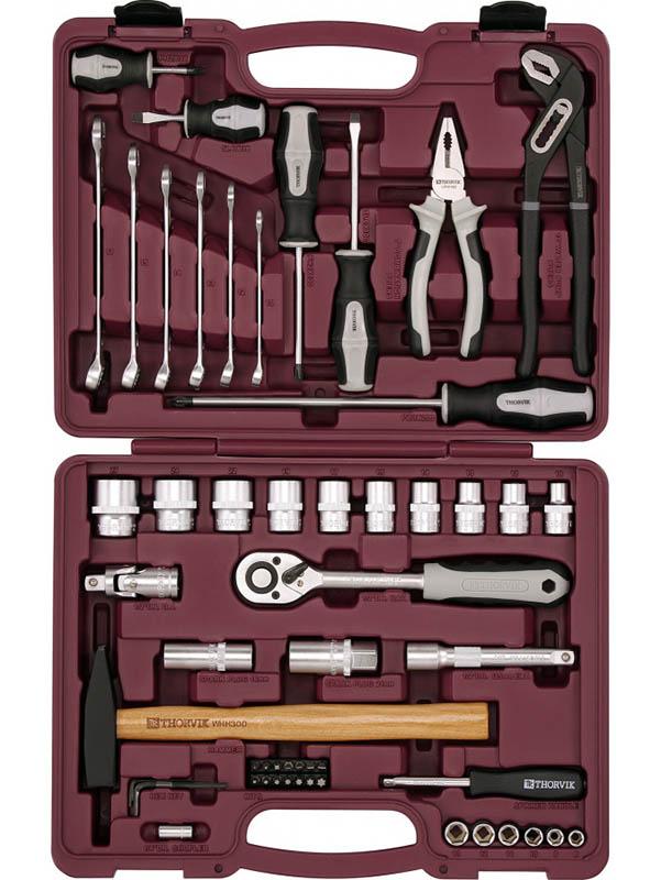 Набор инструмента Thorvik UTS0077/12 набор инструментов thorvik 77 предм uts0077 серебристый