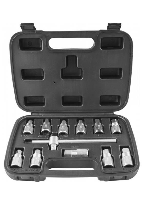 Инструмент Набор приспособлений для откручивания масляных пробок Thorvik 12 предметов AODTS12