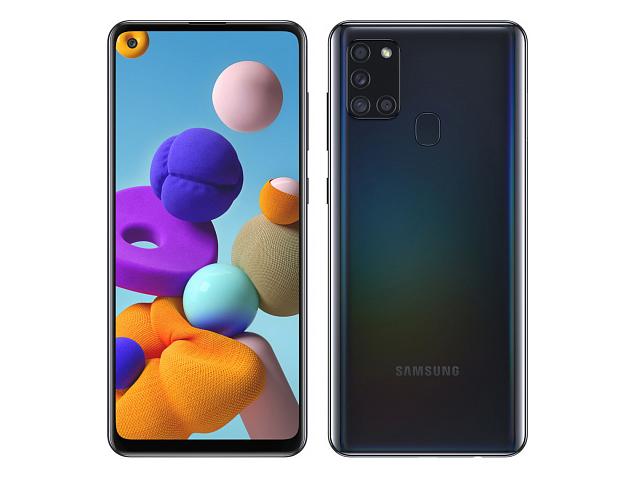 Сотовый телефон Samsung SM-A217F Galaxy A21s 3/32Gb Black Выгодный набор + серт. 200Р!!!