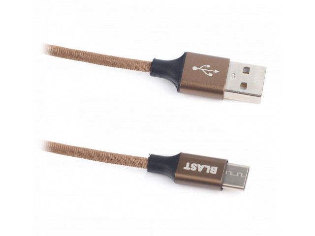 Фото - Аксессуар Blast USB - Type-C 1.2m BMC-414 Brown аксессуар blast type c 1 5m bmc 417 black