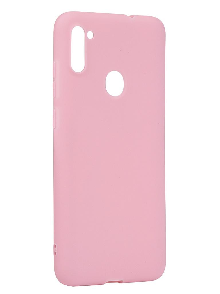Чехол Neypo для Samsung Galaxy A11/M11 2020 Silicone Soft Matte Pink NST17398
