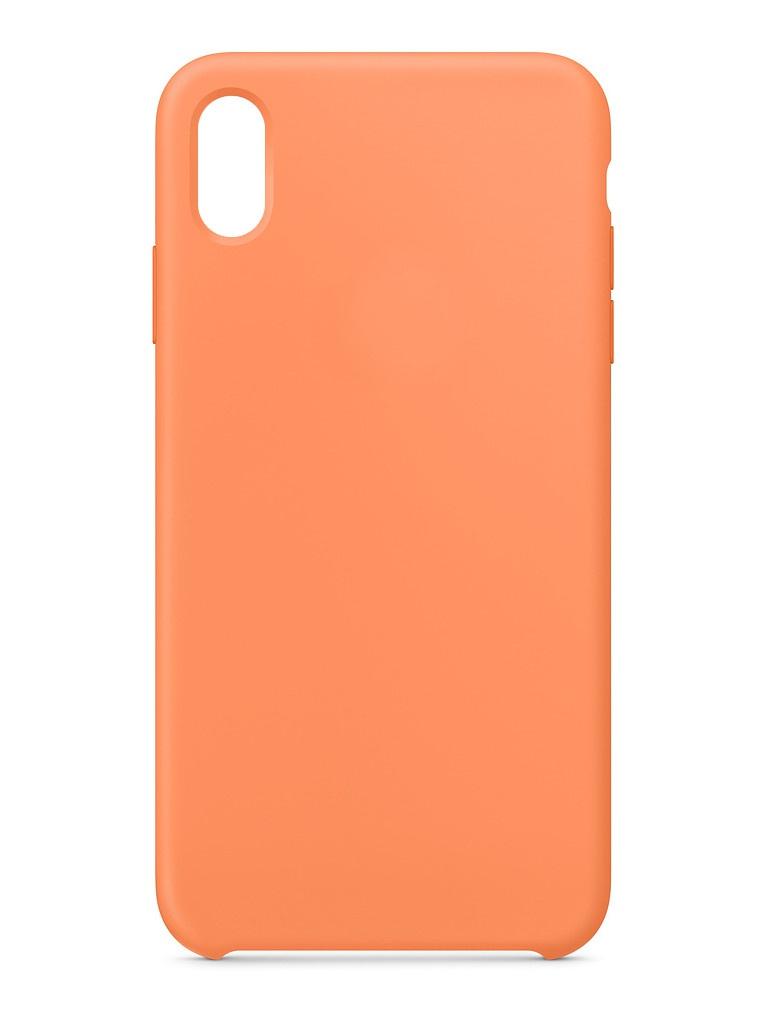 Чехол для APPLE iPhone XS Max Silicone Case Papaya MVF72ZM/A силиконовый чехол apple silicone case для iphone xs max цвет papaya свежая папайя mvf72zm a