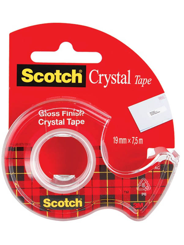 Клейкая лента 3M Scotch Crystal 61975D-RUS 19mm x 7.5m 7100093859