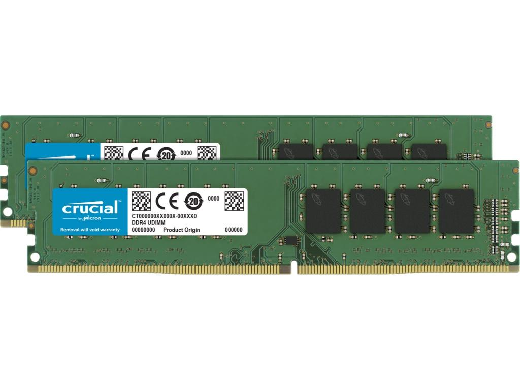 Модуль памяти Crucial DDR4 DIMM 3200MHz PC-25600 CL21 - 8Gb KIT (2x4Gb) CT2K4G4DFS632A