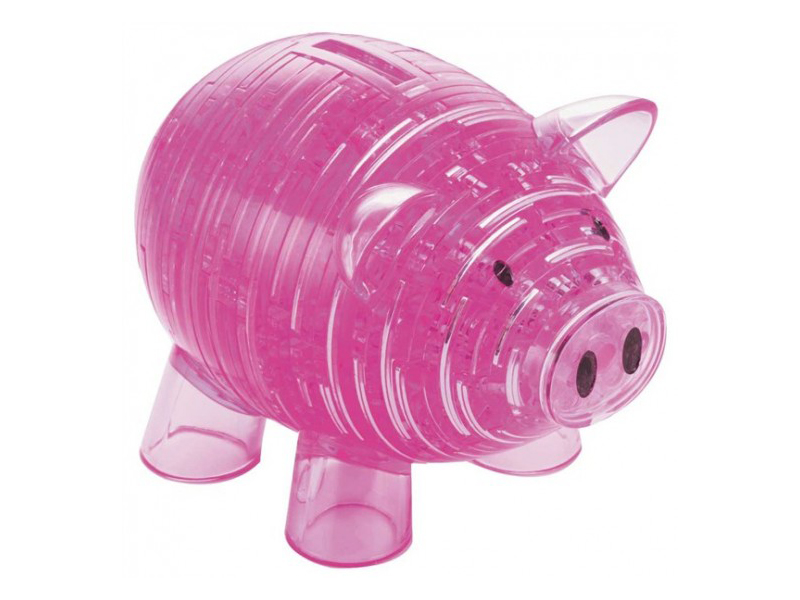 3D-пазл Crystal Puzzle Свинья Pink 9019