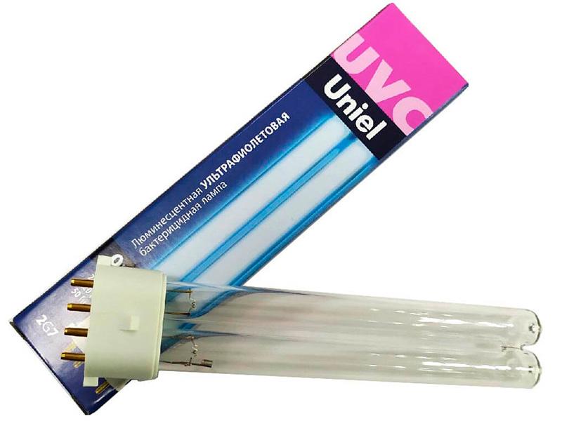 Ультрафиолетовая бактерицидная лампа Uniel ESL-PL-9/UVCB/2G7/CL UL-00004683