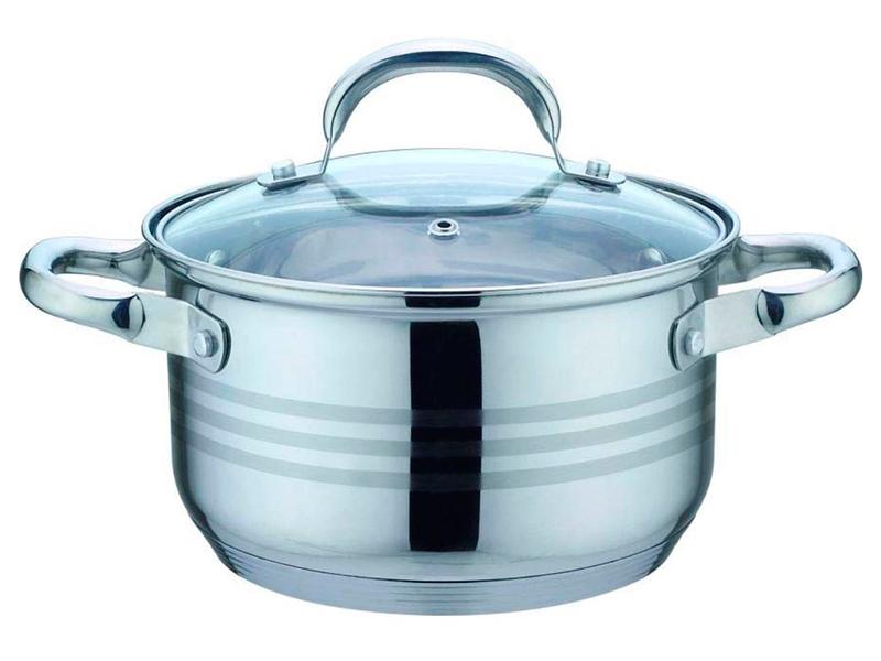 Кастрюля Bekker De Luxe 1.9L BK-1746 набор посуды из 6 предметов bekker de luxe bk 1738