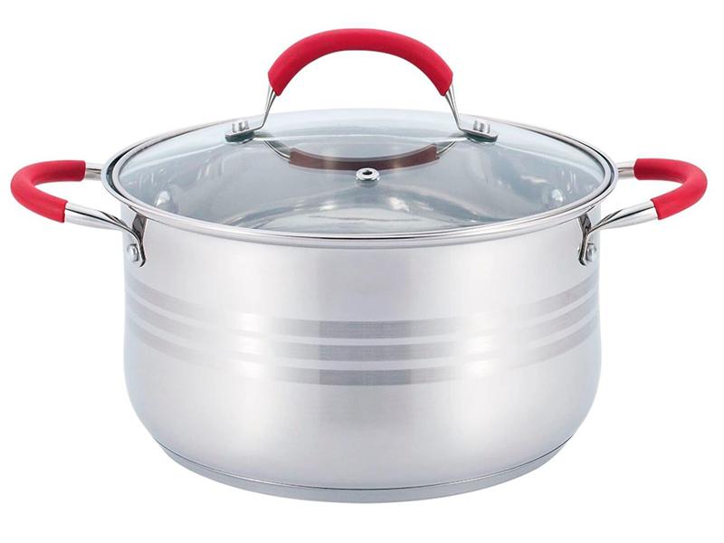 Кастрюля Bekker De Luxe 6.5L BK-1766 набор посуды из 6 предметов bekker de luxe bk 1738