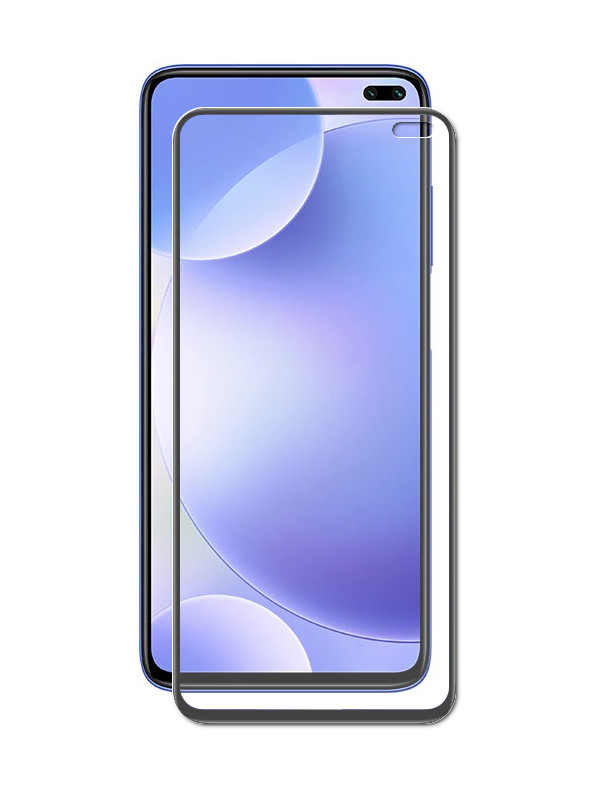 Защитный экран Red Line для Vivo V19 Full Screen Tempered Glass Glue Black УТ000021245