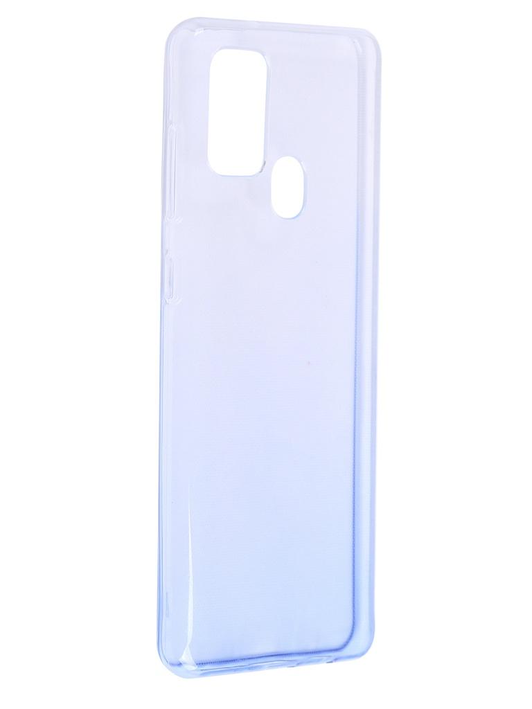 Чехол iBox для Samsung Galaxy A21s Crystal Silicone Gradient Blue УТ000021207