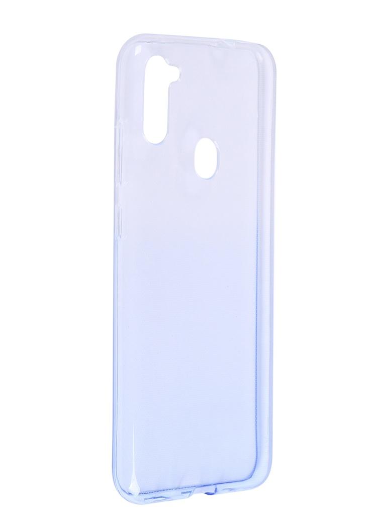 Чехол iBox для Samsung Galaxy A11 Crystal Silicone Gradient Blue УТ000021205