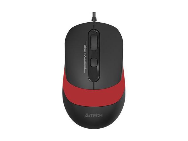 Мышь A4Tech Fstyler FM10 Black-Red