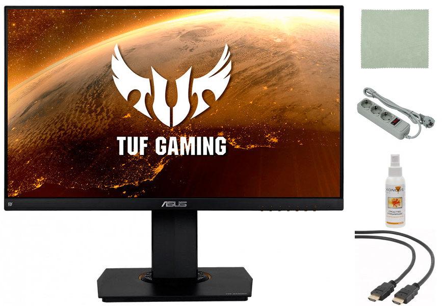 Монитор ASUS TUF Gaming VG249Q 90LM05E0-B01170 Выгодный набор + серт. 200Р!!! монитор игровой asus tuf gaming vg35vq 35 темно серый [90lm0520 b01170]