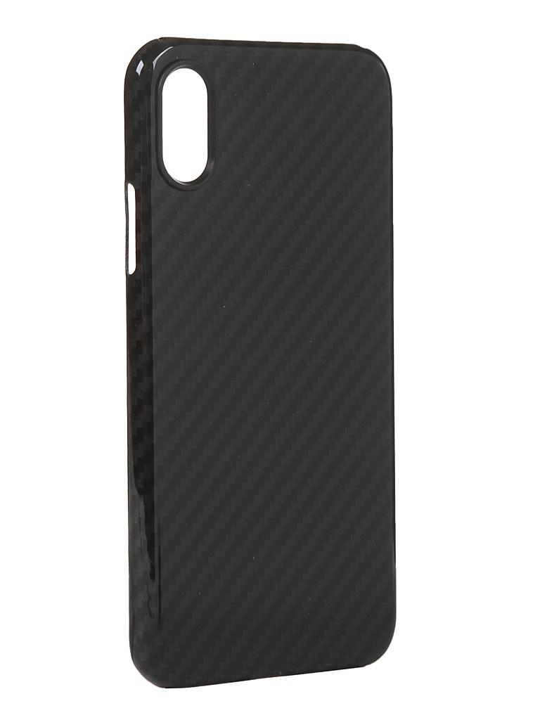 Чехол Red Line для APPLE iPhone X Carbon Glossy Grey УТ000021537