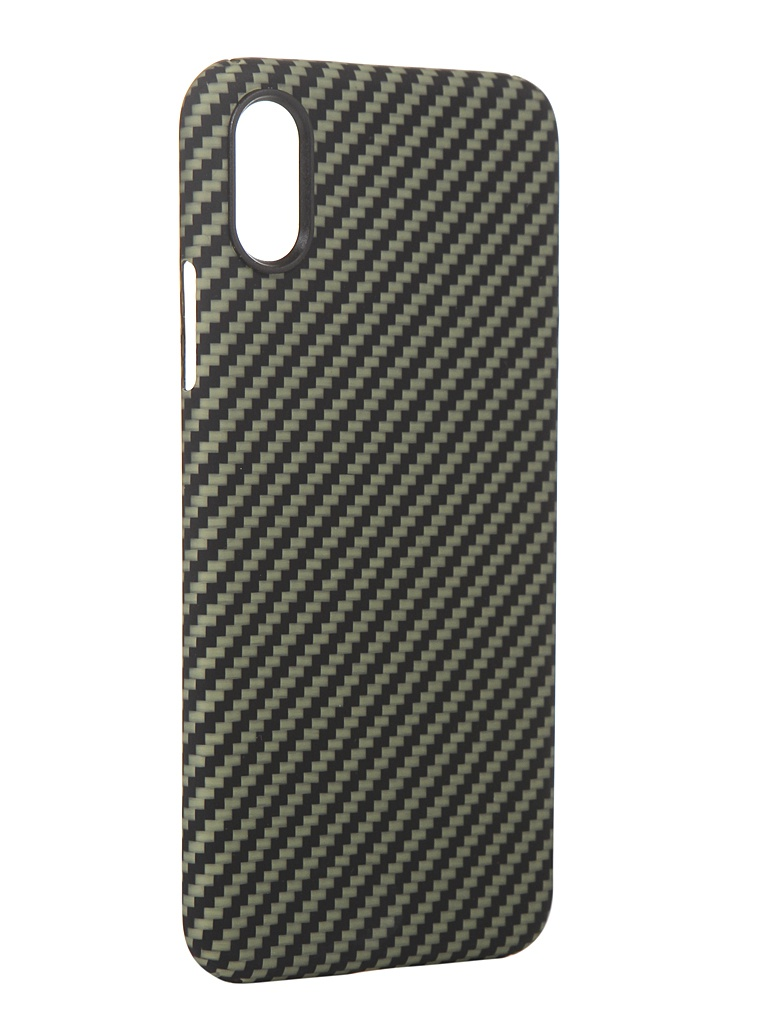 Чехол Red Line для APPLE iPhone X Carbon Matte Green УТ000021532
