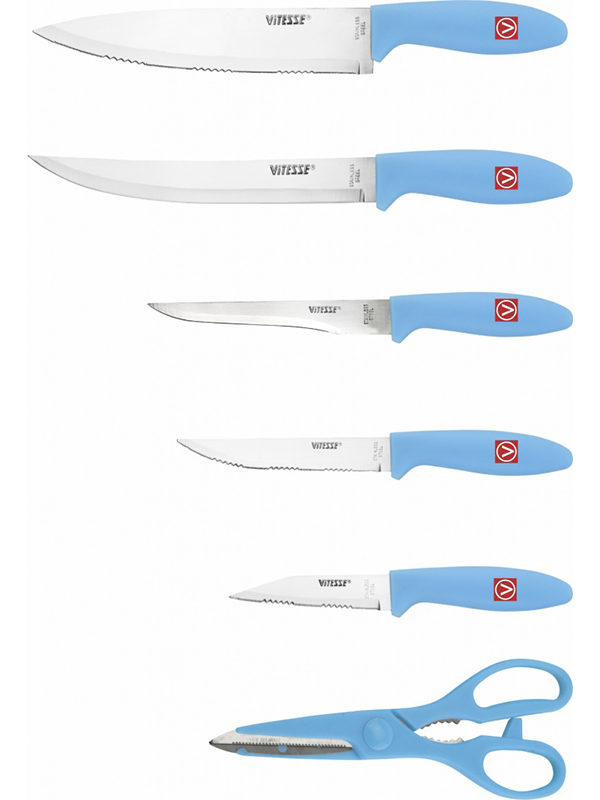 Набор ножей Vitesse VS-8130 Blue мультиварка vitesse vs 576