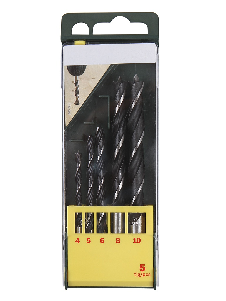 Набор сверл Bosch 4/5/6/8/10 ММ Promoline по дереву 5шт 2607019440