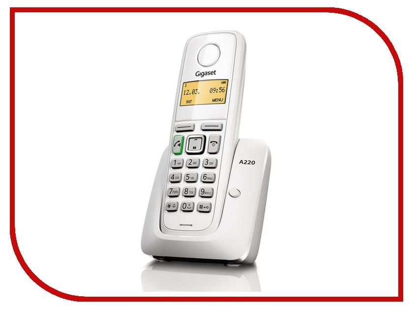 Фото Радиотелефон Gigaset A220 White радиотелефон dect gigaset a220 белый