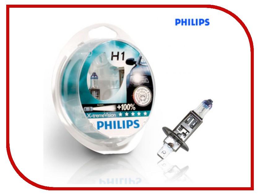 Лампа Philips Xtreme Vision H1 55W 3350K 12258XVS2 (2 штуки)<br>